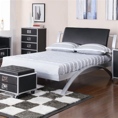 silver black bedroom leclair youth group contemporary bedroom youth bed silver