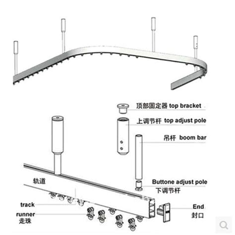 hospital track curtain system curtain bendable rail system hospital separate beauty