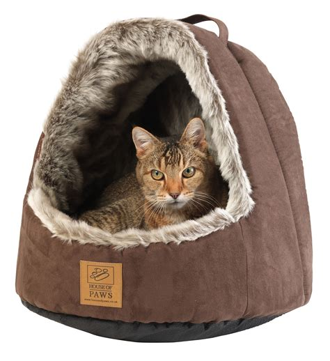 cat beds faux arctic fox hooded cat bed cat beds cat