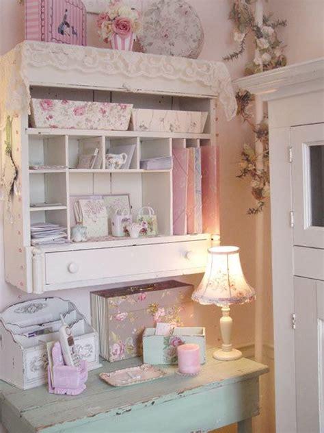 shabby romantic cottage office pink decor pinterest
