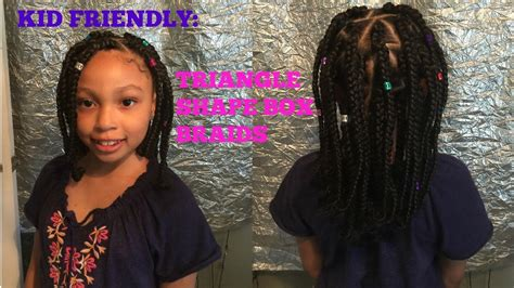 plaits for kids kid friendly triangle box braids youtube