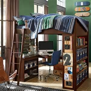 Study Loft Bunk Bed Sleep Study Loft Loft Beds Other Metro By Pbteen