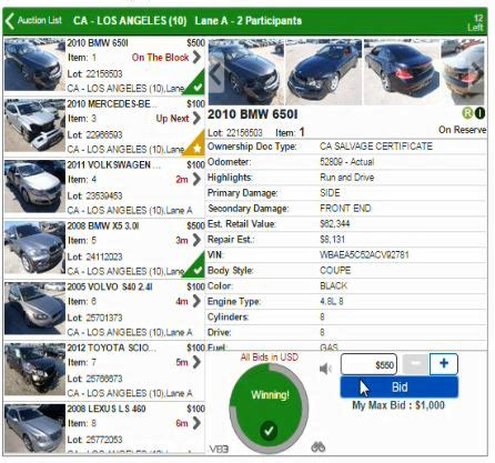 copart auction home page 2019 2020 car release date