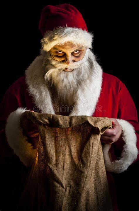 scary santa stock  image