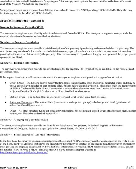 fema application form fema application form for free page 5