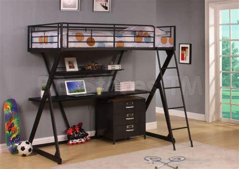 zazie  pc  shape twin loft bed set  desk  cabinet