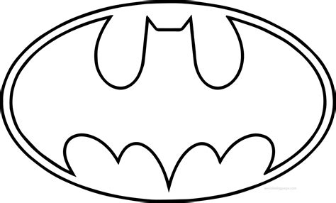 coloring pages of the batman symbol batman logo coloring page coloring page pedia