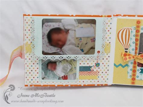 Handmade Baby Album - digest of january 2014 projects creative scrapbooking