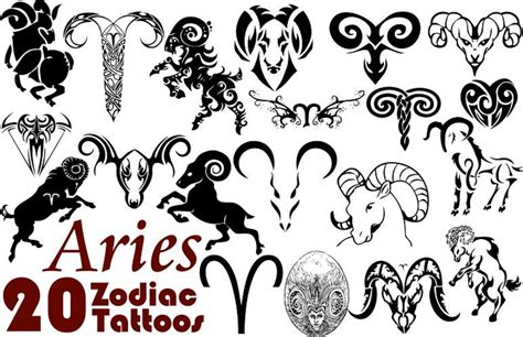 astrology tattoo designs zodiac symbol aries tattoos designs