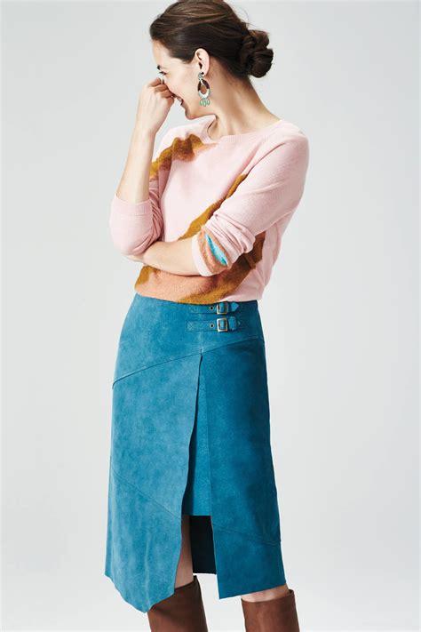 Anthropologie To Carry The Leifsdottir Line by Leifsdottir Pieced Suede Skirt In Blue Lyst