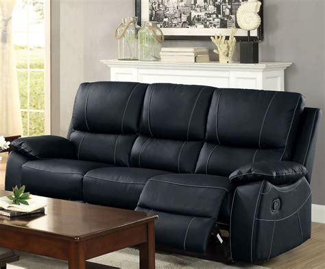 sofa double greeley black double reclining sofa 8325blk 3 homelegance