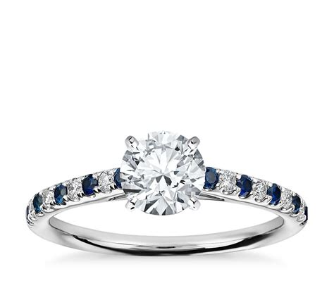 riviera micropav 233 sapphire and engagement ring in