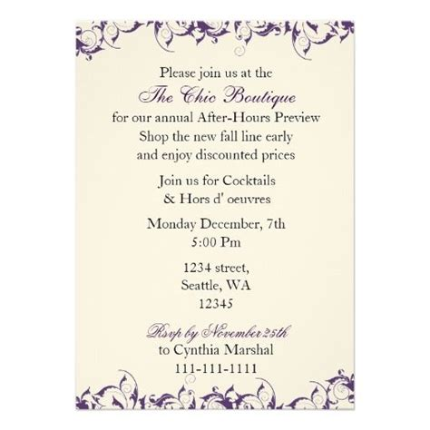 elegant business party invitation business open house