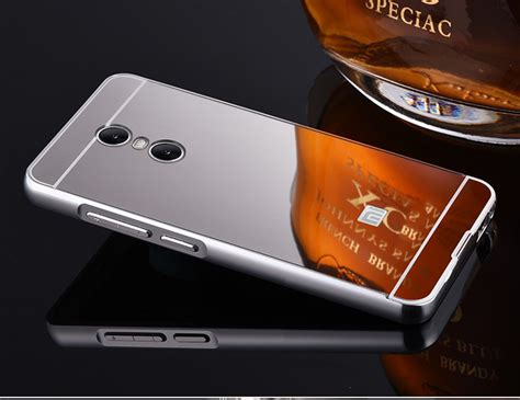 Aksesoris Casing Handphone Bumper Miror Xiaomi Redmi Note 2 Metal luxury plating frame mirror back cover skin bumper for xiaomi redmi note 4 sale banggood