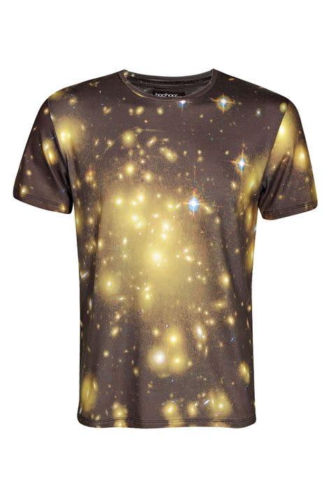 Blue Galaxy Print S M L Dress 44349 galaxy sublimation printed t shirt print custom designs tshirt high fashion clothing