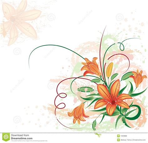 floral grunge background free stock images photos 3170938 stockfreeimages grunge floral background with lilium vector stock vector image 1563889