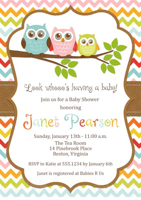 Owl Baby Shower Invitations Etsy Various Invitation Card Design Etsy Baby Shower Invitation Templates