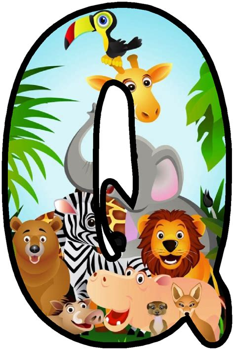 free printable jungle alphabet letters pin by rejane oliveira on abeced 225 rio infantil pinterest