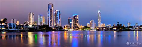 gold wallpaper perth gold coast city skyline night panorama by furiousxr on
