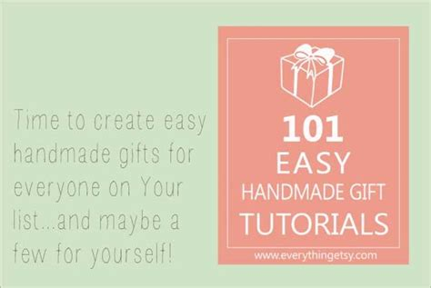 101 Handmade Gifts For - 101 easy handmade gift tutorials slider image