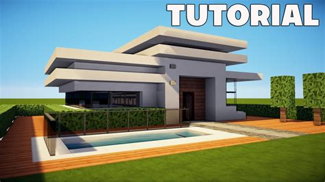 minecraft tutorial modern interior house design how to minecraft small easy modern house mansion tutorial