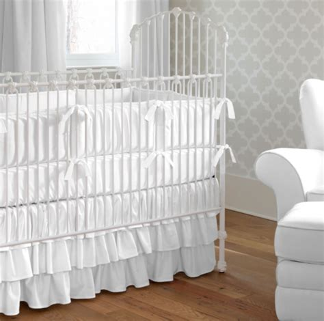 White Crib With Mattress White Out Project Nursery