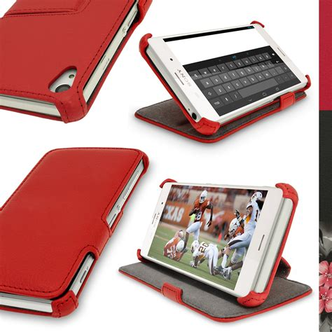 Casing Cover Sarung Pda Book Standing Xperia Z 2 Z2 pu leather skin stand for sony xperia z3 d6603 d6633 flip cover folio book ebay