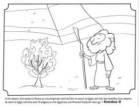 moses burning bush bible coloring pages whats bible