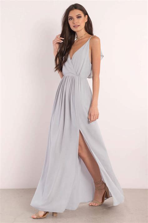 Dress Maxy blue dress plunging dress blue dress