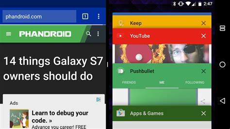 android multi window a closer look at android n multi window mode