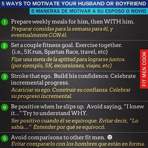 7 Ways To Encourage Your Partner by 5 Ways To Motivate Your Husband O Boyfriend Fit Cook
