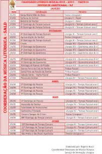 Calendario Quaresma 2016 M 250 Sica Lit 250 Rgica Calend 225 Lit 250 Rgico Musical 2016 2017
