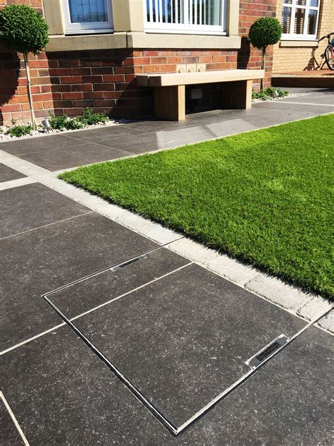 vitrified paving oak sleepers artificial grass