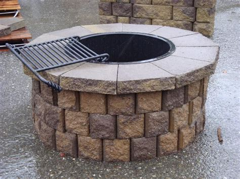brick bbq pit kits pit design ideas
