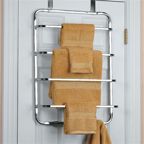 bathroom door towel rack