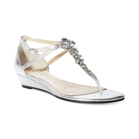 adrienne vittadini sandals adrienne vittadini veaber wedge sandals in silver lyst