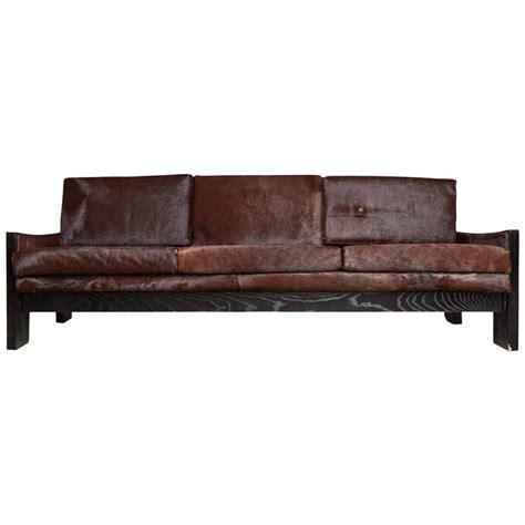 exotic sofas exotic brazilian ebonized oak and rosewood sofa with hair