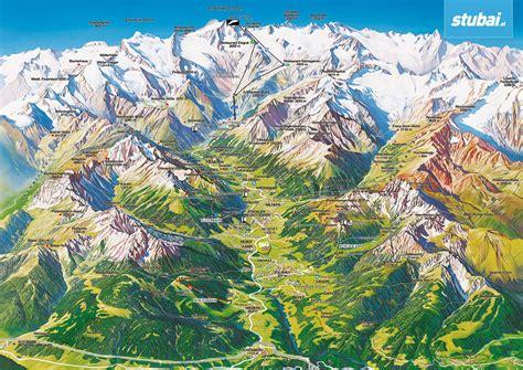 urlaub alpen österreich karte stubaital mayr karte stubaital 2 bl buecher de