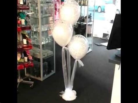 helium balloon bouquet with tulle amp fairy lights by the