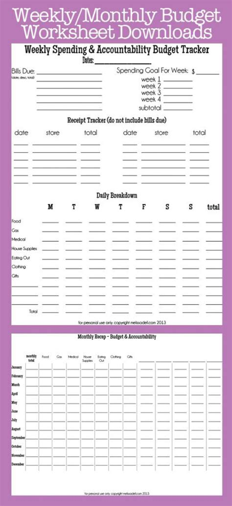Budget Accountability Week 6 Financialfriday Weekly Budget Template Sheets
