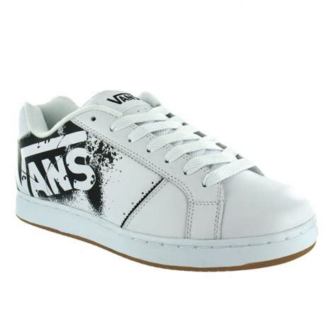 buy vans widow mens leather skate shoes white at scorpio