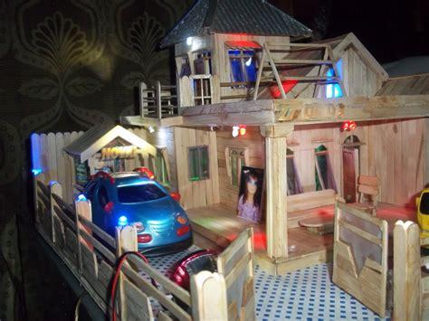 Jual Miniatur Rumah Stik Es Krim by Rumah Miniatur Dari Stick Es