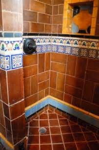 Mexican Tile Bathroom Ideas Mexican Tile Mediterranean Bathroom By Clay