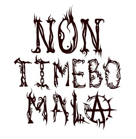non timebo mala tattoo non timebo mala quoniam tu mecum es www imgkid the