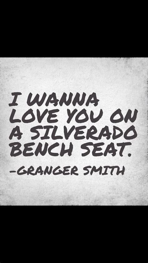 silverado bench seat lyrics sliverado bench seat granger smith music lyrics pinterest bench seat summer