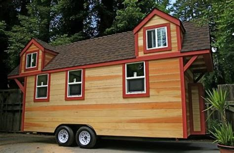 trailer for tiny house tiny house trailer rv house made of redwood custom fold up deck
