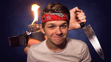 bobby burns playing with knives and fire bobby burns youtube