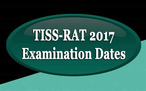 Tiss Mba Application Form 2017 by Tiss Rat To Be Held In February 2017 Check More Details