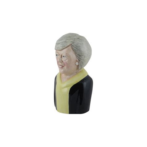 Theresa May Toby Jug Yellow Colourway Bairstow Pottery