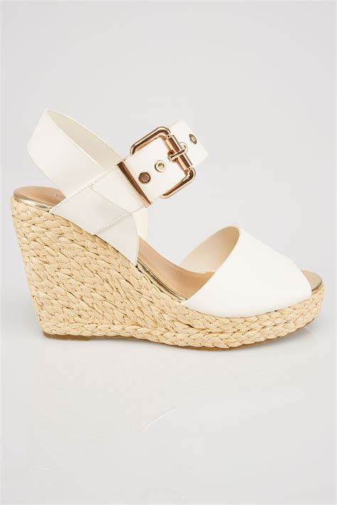 Sandal Wedges Wg45 White white high wedge espadrille sandal in eee fit size 4eee 5eee 6eee 7eee 8eee 9eee 10eee